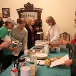 Community Members trying to Vegan Food Provided for Sampling