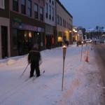 Skiing Downtown Ishpeming