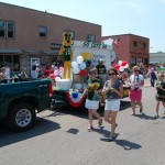 Marquette City 4th of July Parade 2012 - Northern MIchigan University WIdcats