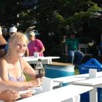 Dee Dee from Sunny 101.9 WKQS FM Enjoying Texaco Country Showdown - Marquette, Michigan - July 5, 2012