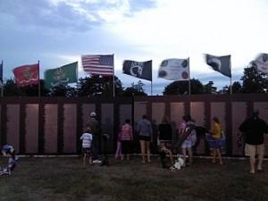 The Vietnam Memorial Wall in Gladstone's Van Cleve Park
