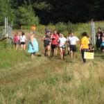 Challenging mud run