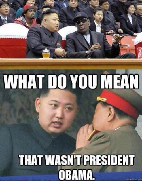 I don't understand why Obama sent Dennis Rodman to do his over seas nuclear negociations?