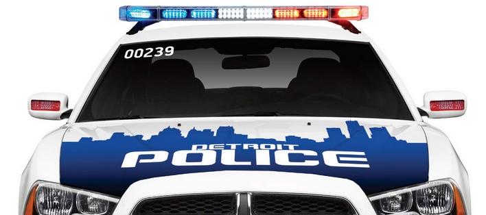 detroit police cruiser