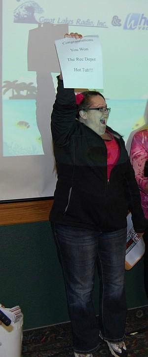 Brenda Nault - Wins $6000 Hot Tub from Rec Depot and Great Lakes Radio