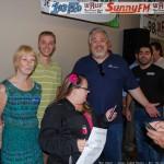 Dee Dee, Travis, Walt, Eric, and Prize Winner Brenda Nault