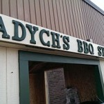 It's the Tadych's BBQ Shack at Tadych's Econo Foods in Marquette during their 1 Day Meat Sale