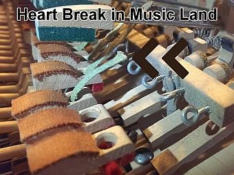 Luke Piano DIY Project Bridal Straps Broken