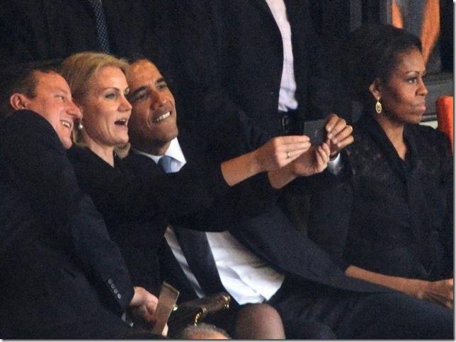 Obama at Nelson Mandela Funeral 1