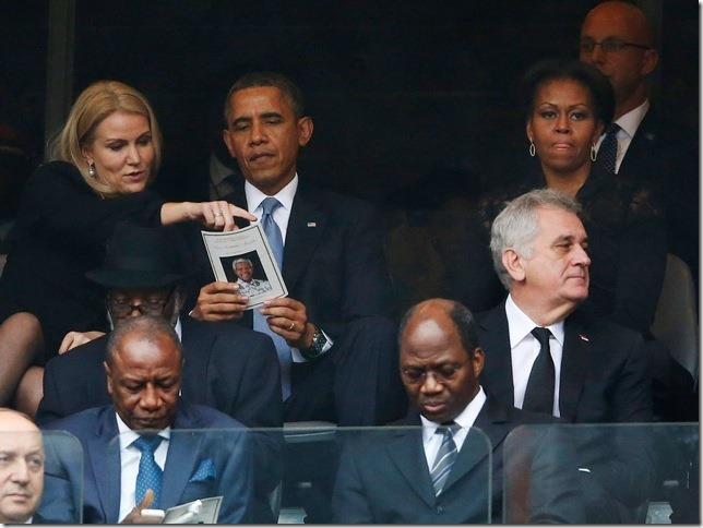 Obama at Nelson Mandela Funeral 3