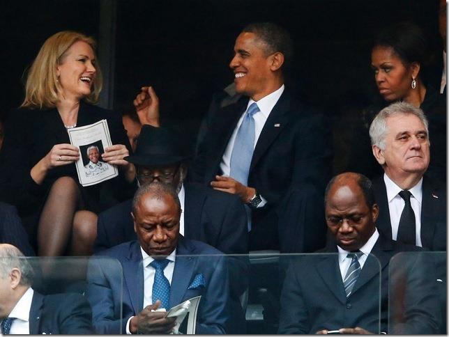 Obama at Nelson Mandela Funeral 4