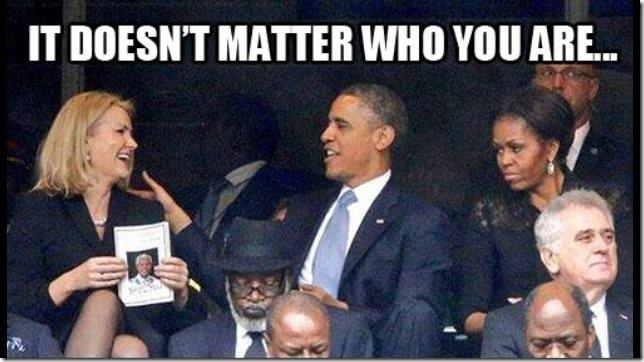 Obama at Nelson Mandela Funeral 5