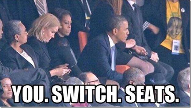 Obama at Nelson Mandela Funeral 7