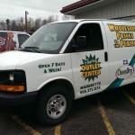 The van is bringing in the goods!