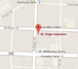 Find St. Onge Insurance on Google Maps
