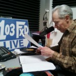 Elmer Aho getting prepared for the Western Set on American Country Gold on 103-FXD.