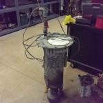 A close up of a trouble sewage pump