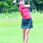 Ashley Rochester Swinging As A Marquette High School Senior