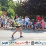 Amy - Packers Fan on WRUP 983 in Ishpeming Parade July, 2015