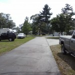 The campground was full in Gladstone, Michigan.
