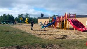 Gordon Mielke was live at the KI Sawyer Elementary School Clean Up Event!