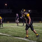 Varsity Football player number #34 on the field at Gwinn High School!