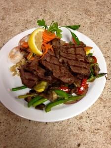 Steak Dinner AT the Pantry Restaurant Rapid River