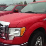 2010 Red Ford F150 with Western Plow Big Valley Ford Ewen Michigan September 2015 005