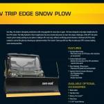 Sno-Way UTV Trip Edge Snow Plow
