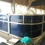 Weeres Cadet Fish 220 Pontoon Boat Richards Boatworks & Marine Escanaba Michigan October 2015 001