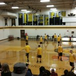The Gwinn Modeltowners playing against the Iron Mountain Mountaineers