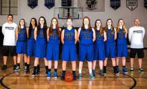 Ishpeming Hematites Girls Basketball Team New Uniforms from Honor Credit Union