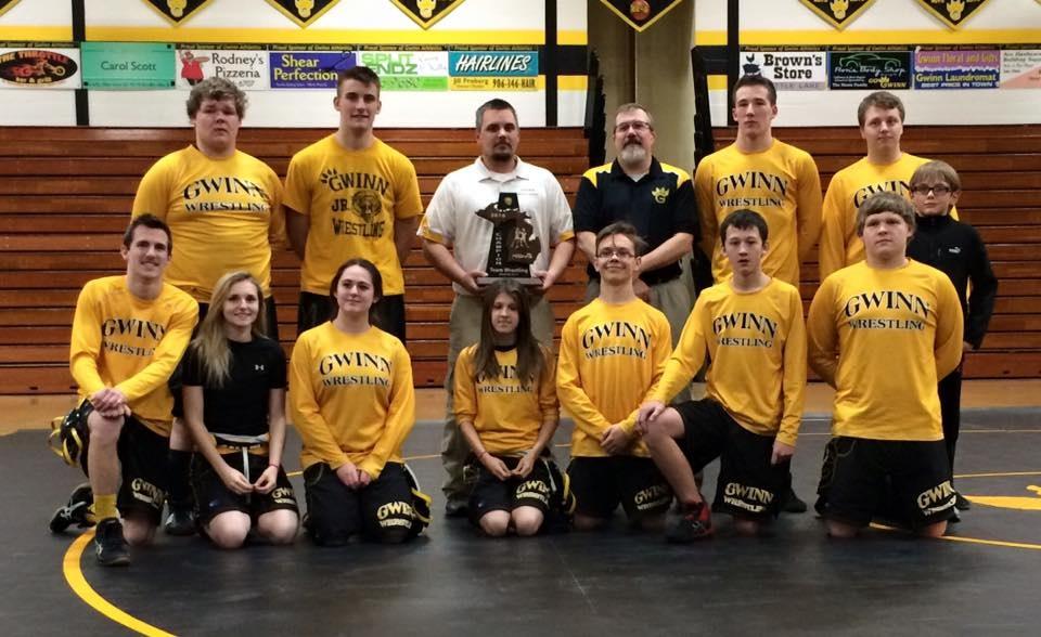 Gwinn Modeltowners High School Wrestling MHSAA Wrestling Team District 4 Champs