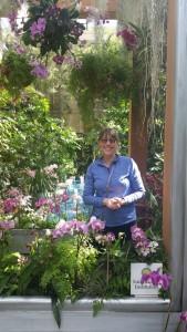 Rita Noordyk enjoying the Smithsonian Visitors Center in the Castle near the Botanical Gardens