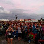 Crowd Under Sunset Sky