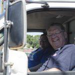 Lane Dawson and Nancy Longtine in the 103FXD Van