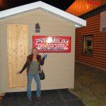 Pam Paris outside her new Premium Sauna!