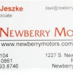 Contact David at Newberry Motors