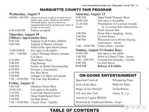 Marquette County Fair