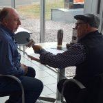 The Major talking to owner Jim Grundstrom