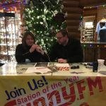 Joe talks with Karen, the manager at Kewadin Casino