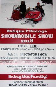 2018 Antique & Vintage Snowmobile Show Flyer