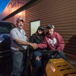 Chuck Bergdahl with Tasha and her friend Renee.