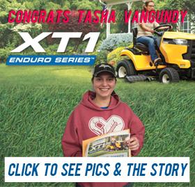 Tasha Vangundy won the Cub Cadet Mower