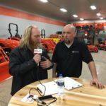 Luke Noordyk talking with Ryan from U.P. Kubota.