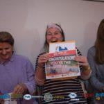 Elizabeth Hollowell wins the Snowdog and Cart!