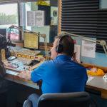 Adam Carpenter and Mark Evans on 103-FXD during the 2019 St. Jude Radiothon
