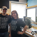 Luke Ghiardi and Kelsey Reyes in the 103.3 WFXD Studio during the St. Jude Radiothon.