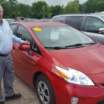 Jim Grundstrom with a nice, pre-owned Toyota