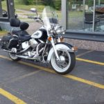 This motorcycle was driven in by someone who bought a dock from Frei Chevy